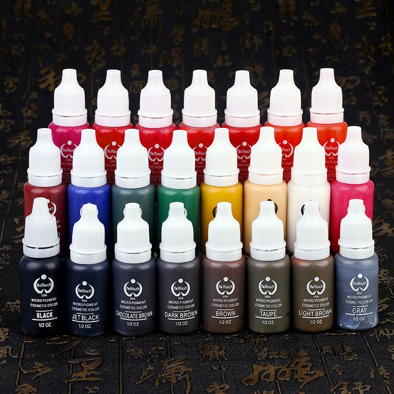 Tattoo Ink Set Pigments Permanent 15ml Tattoo Ink For Tattoo Body Eyebrow Eyeliner Lip Choose Any 2 Colors Tattoo Ink Sets Brown Tattoo Ink Makeup Pigments
