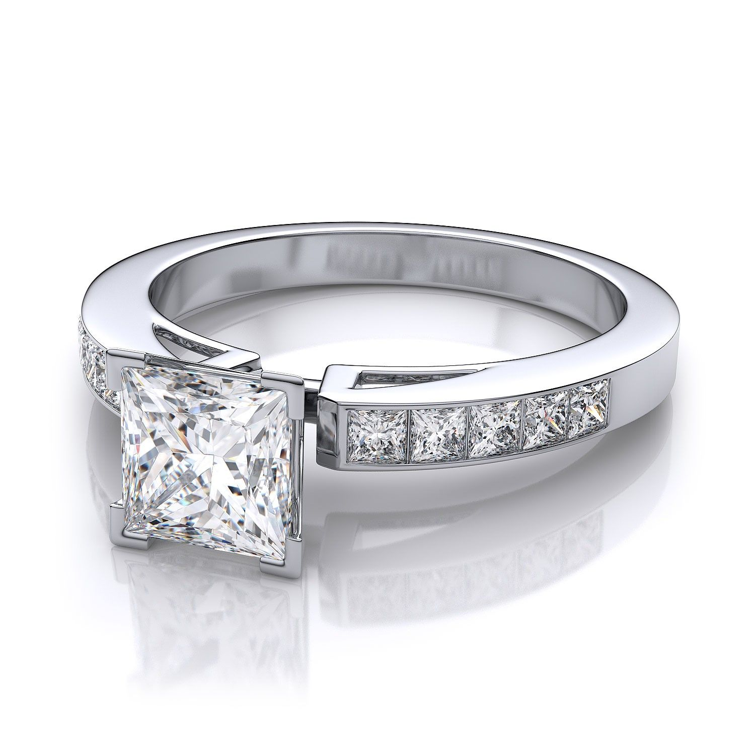 settings in profile engagement jewellery setting diamond round solitaire white ring low gold trellis