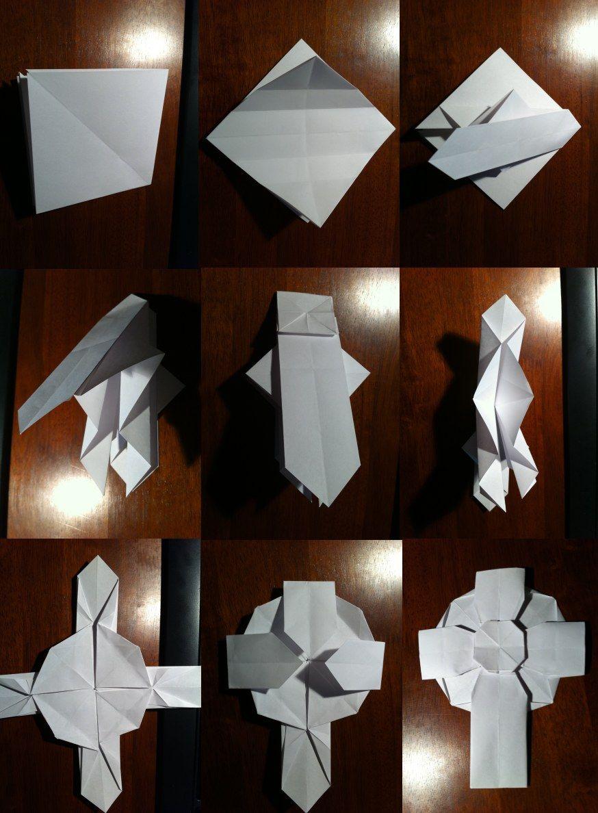 Easy Origami Cross / Crucifix Tutorial - Paper Kawaii - YouTube | 1188x874