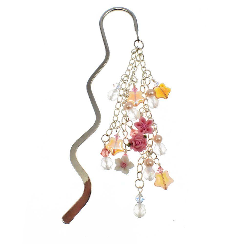 fimo flower rose bookmark kit with swarovski crystals jewelry