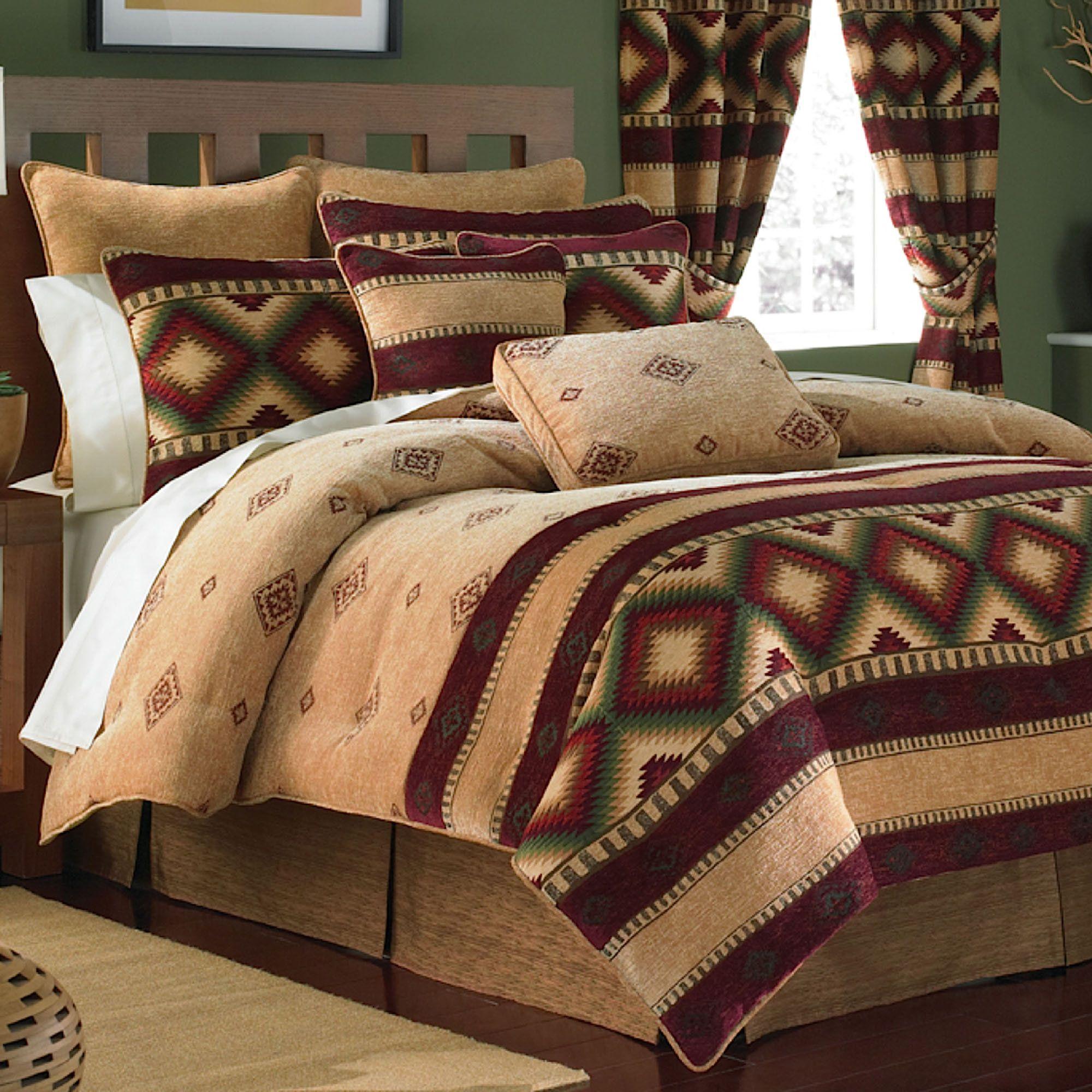 Veracruz Southwest Comforter Set Camel Bedroom Stuff