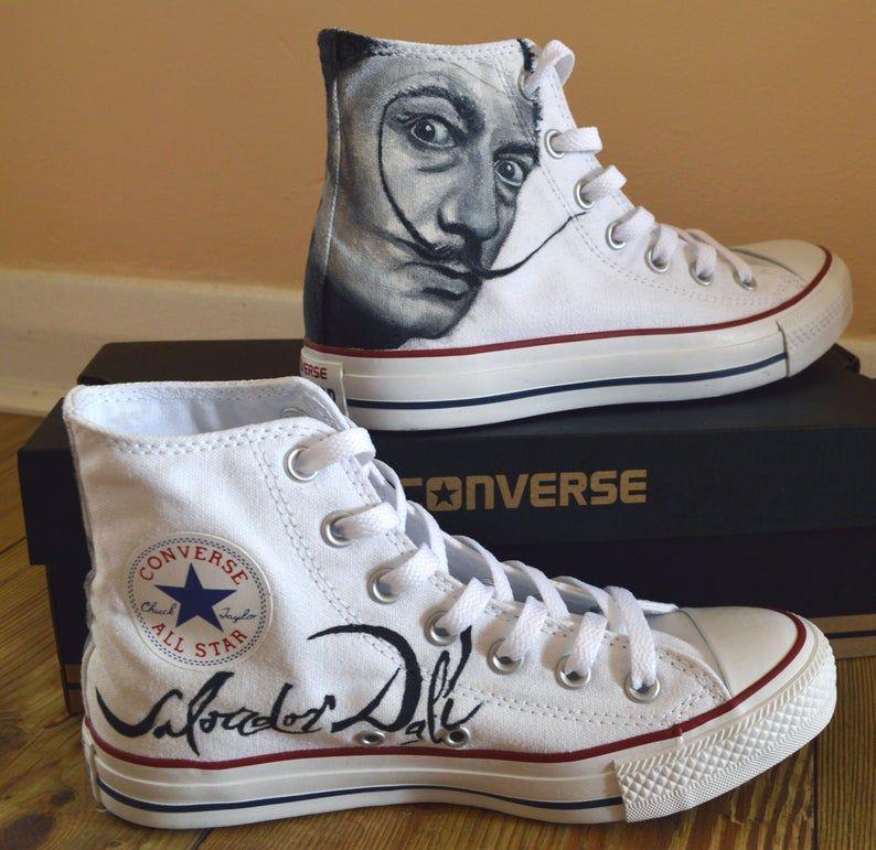 Custom Hand Painted Converse Shoe, Salvador Dali | Pintas con ...