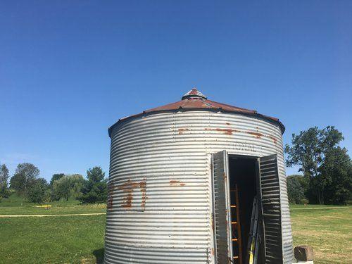 The Grain Bin...Bar   Flower farm, Backyard, Farm