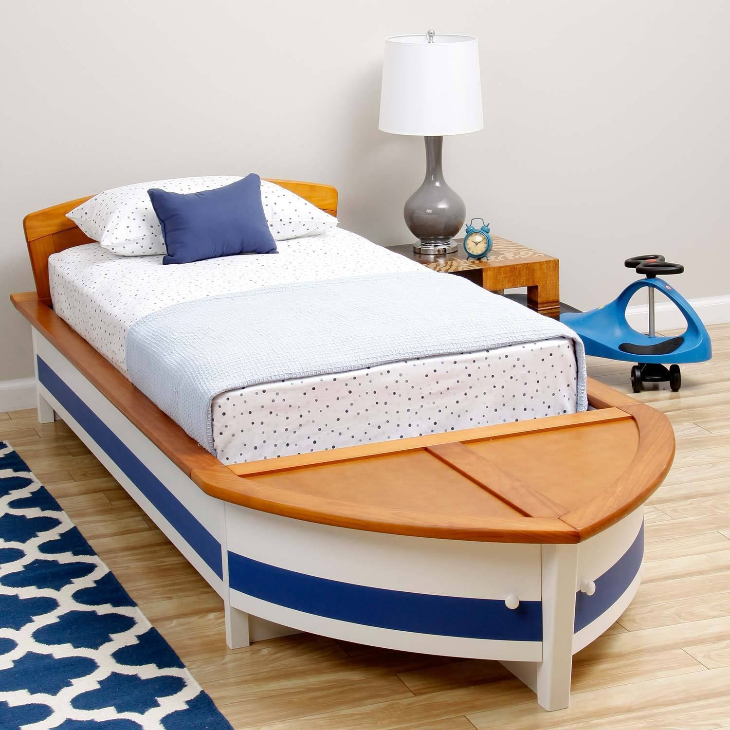 Let your child set sail to Slumberland with this twin-sized boat bed ...