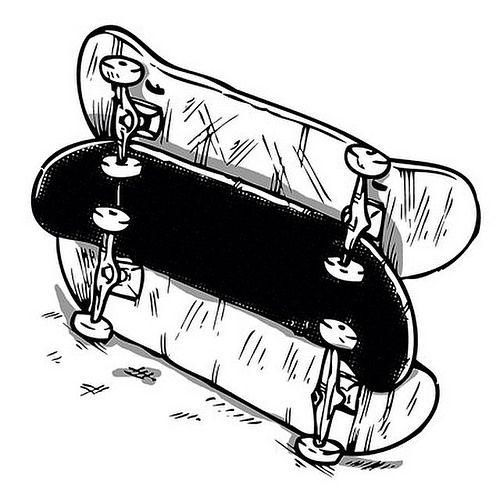 Skate Decks Ready For Ollies Skateboard Illustration Drawing Tatuagem Skate Desenhos Para Tatuagem Tattoo De Skate