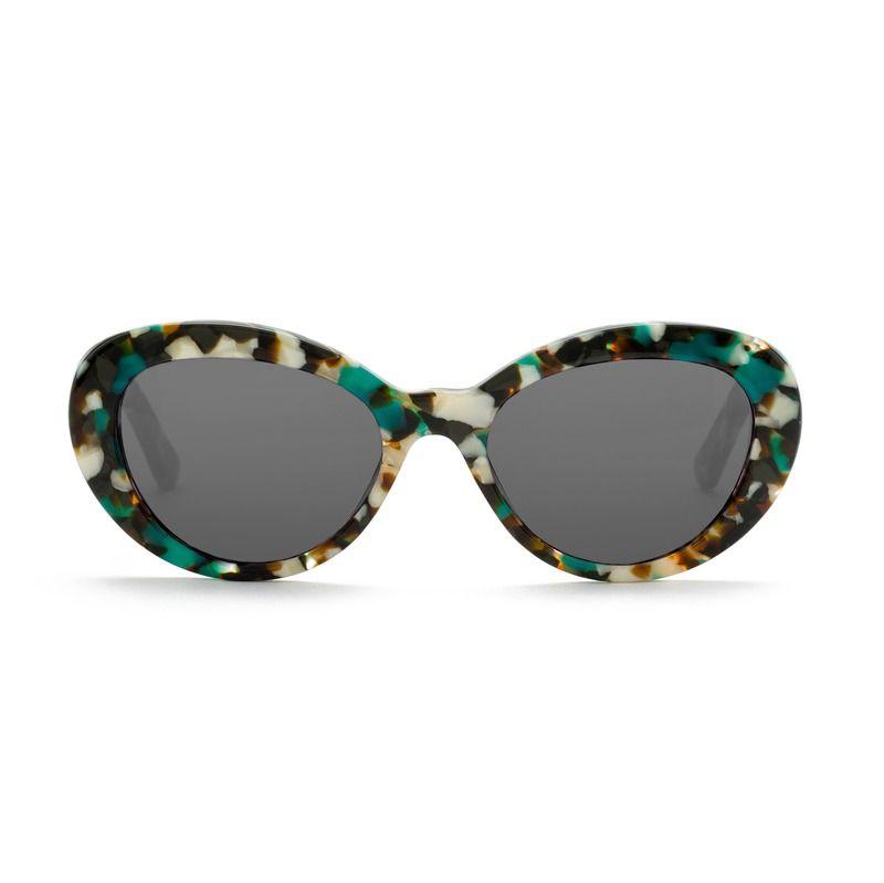 BIMBA Y LOLA Gafas de sol ovaladas carey turquesa efb392b53829