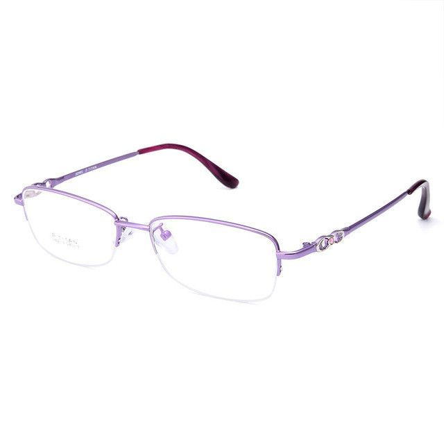 gmei optical s8213 alloy metal semi rimless eyeglasses frame for women prescription optical eyewear glasses - Womens Metal Eyeglass Frames