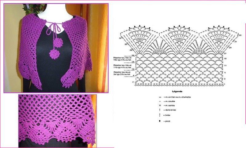 17 couches de motifs ponchos Mananitas - GanchilloGanchillo | Tricot ...