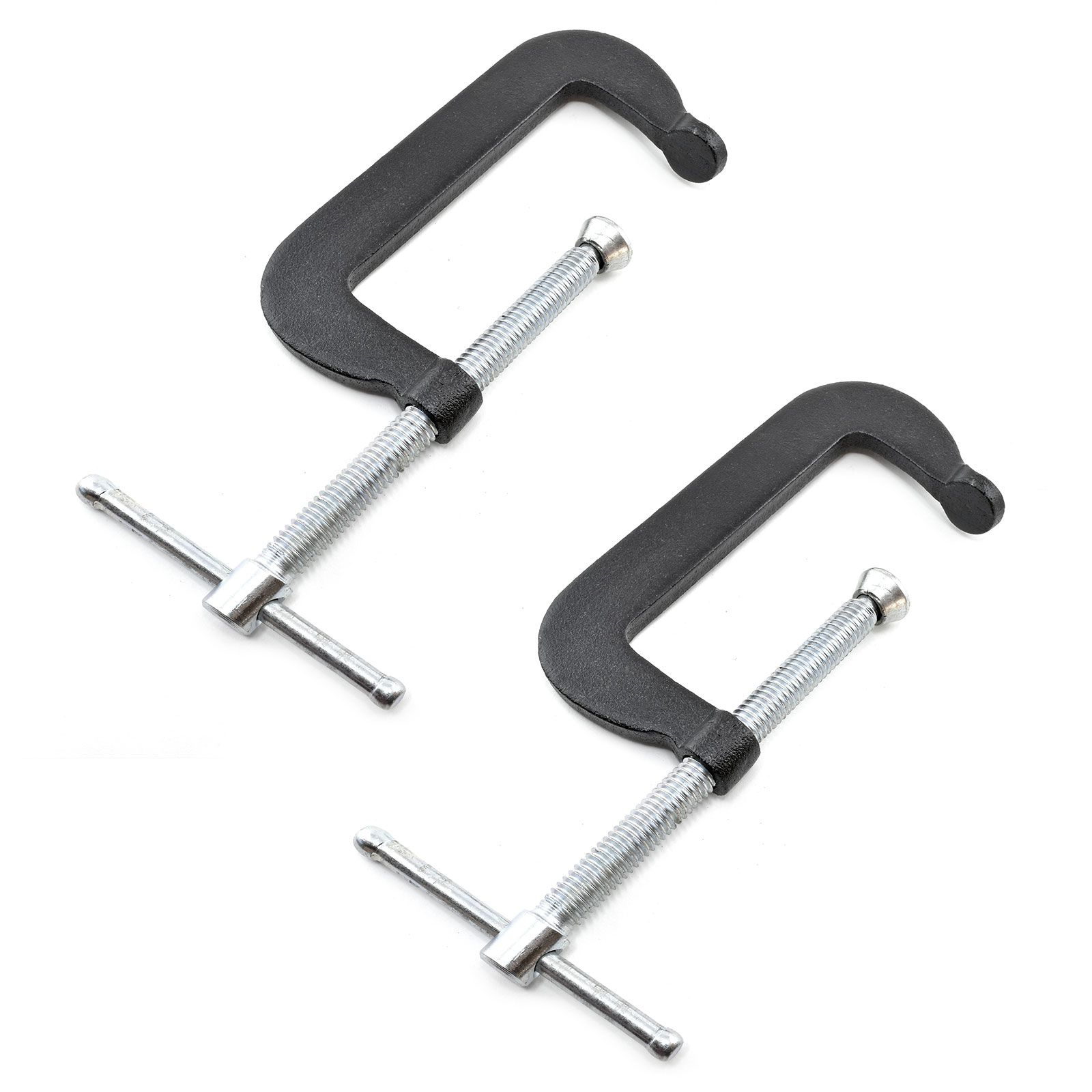 Perfect for small arts and craft projects work place industrial applications and more 1 inch c-clamps pack of 2 hobbyist model builder
