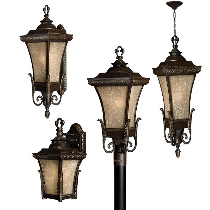vintage outdoor lighting with regency bronze finish traditional