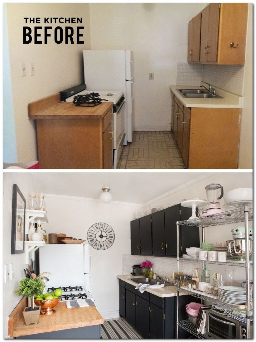 50 Ideas To Decorate Small Apartment On A Budget The Urban Interior Small Apartment Kitchen Decor Kitchen Decor Apartment Small Apartment Kitchen