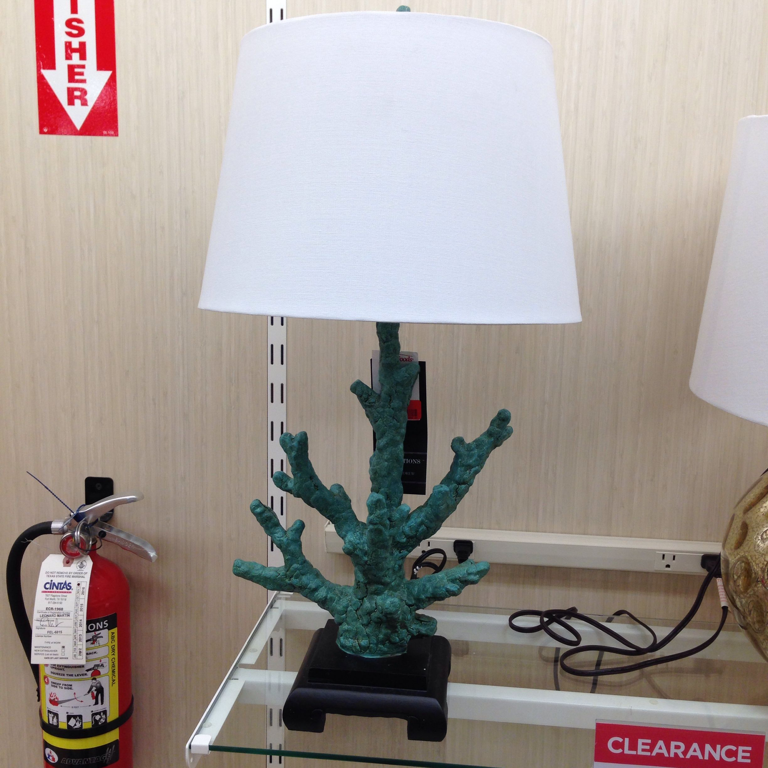 Coral table lamp home goods store table lamp decor