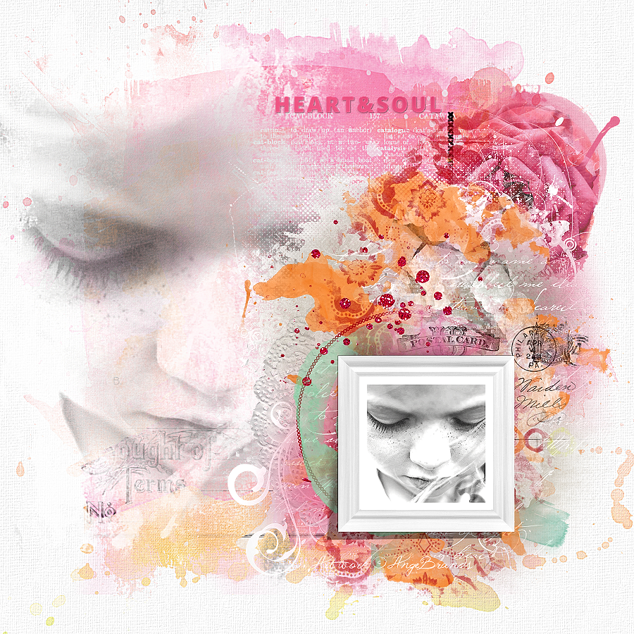 HEART&SOUL ARTWORK ©AngeBrands...All rights reserved  Credits...September {Artsy Bits and Pieces Pack A} & September {Paper-Set: Watercolor} by NBK-Design - Nicole Kaltenecker  Photo Marta Everest...Used with Permission