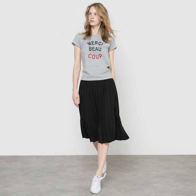 M/&s collection jersey plissé Midi Jupe