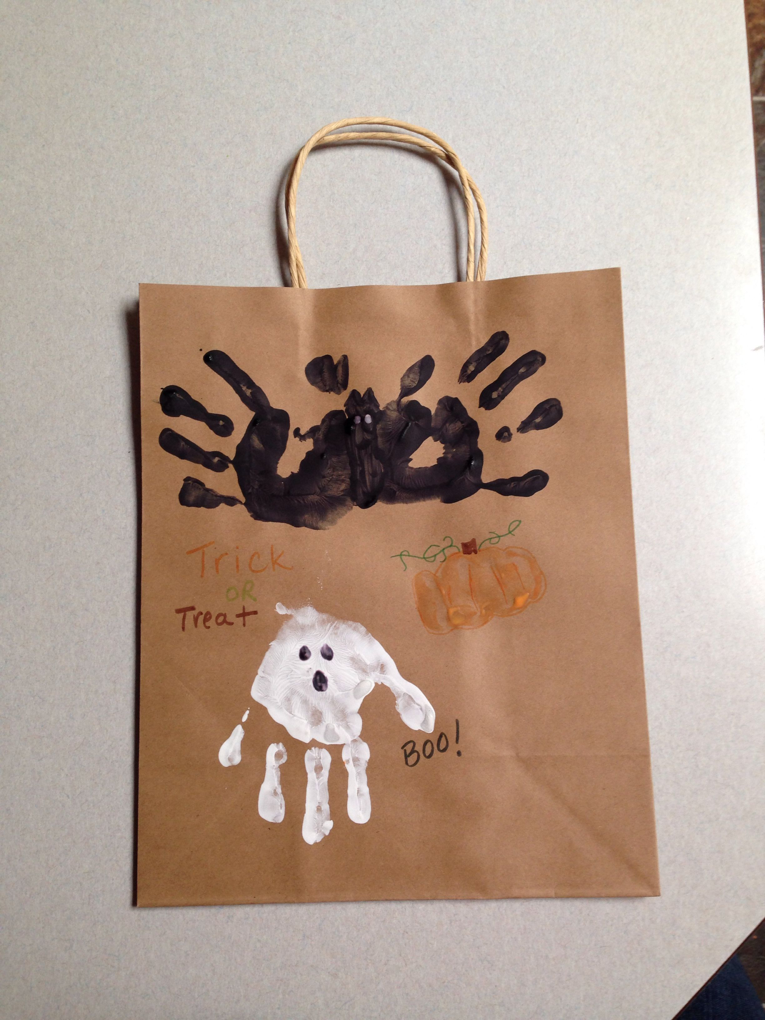 Trick Or Treat Bag Craft For Preschool Ing Handprints
