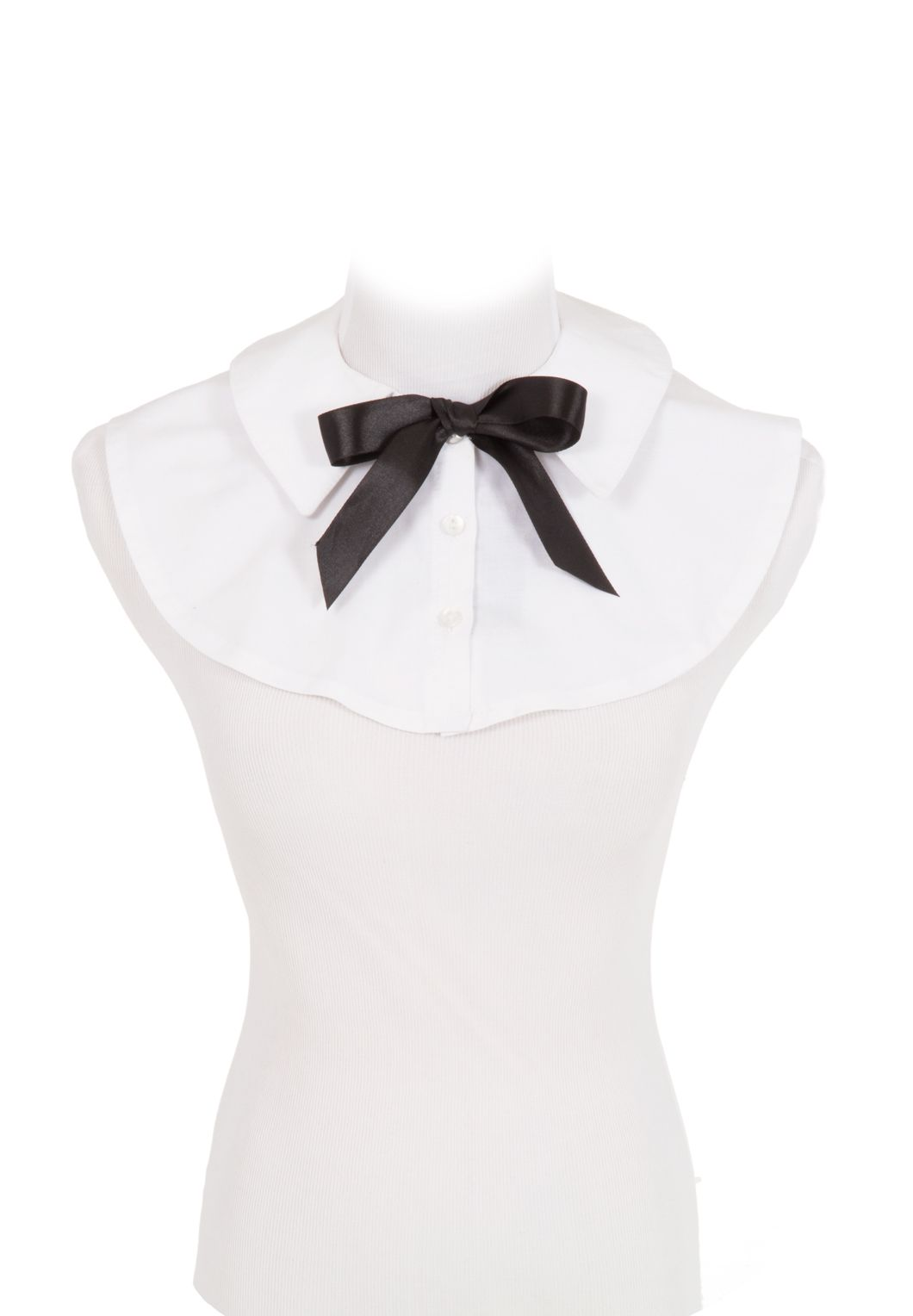 White Cotton Collar and  Tie By Recollections