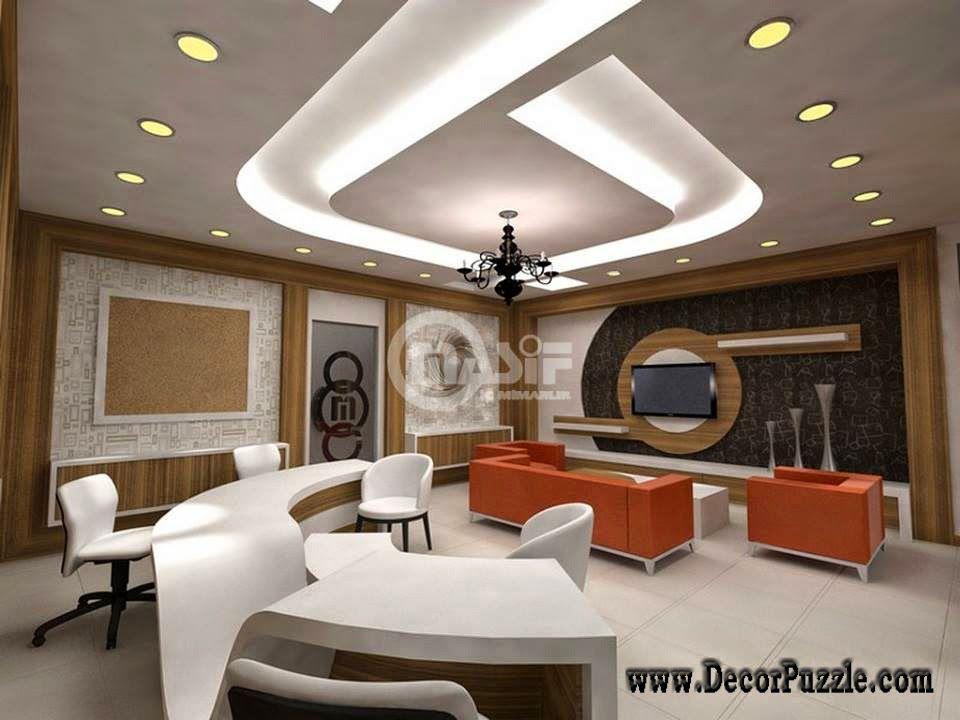 Modern office ceiling lighting led ceiling lights false for Office ceiling design