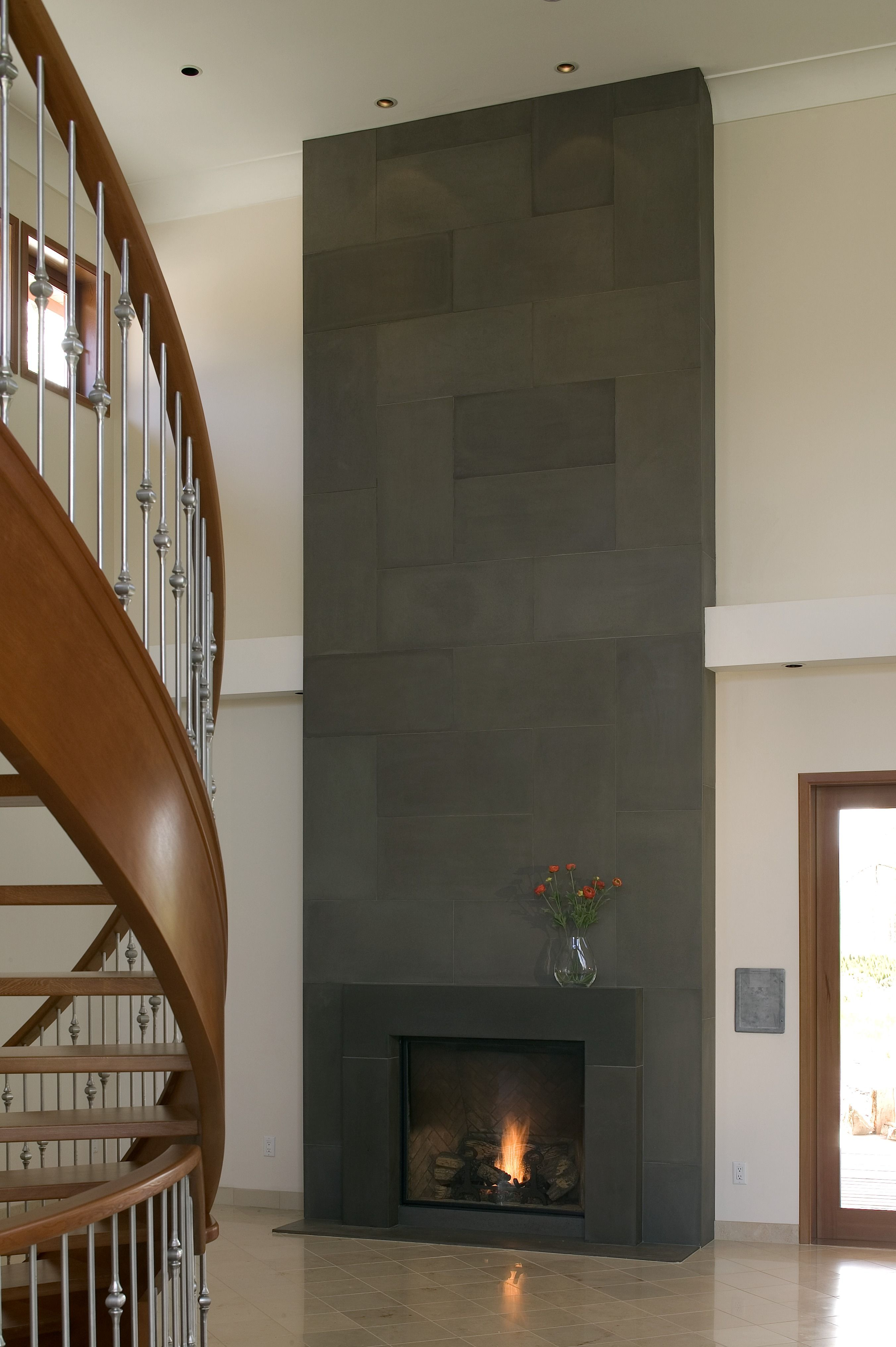 How Much Does New Flooring Cost? Modern fireplace
