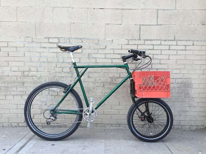 GT Outpost converted to cycle truck using the crust clydesdale fork ...