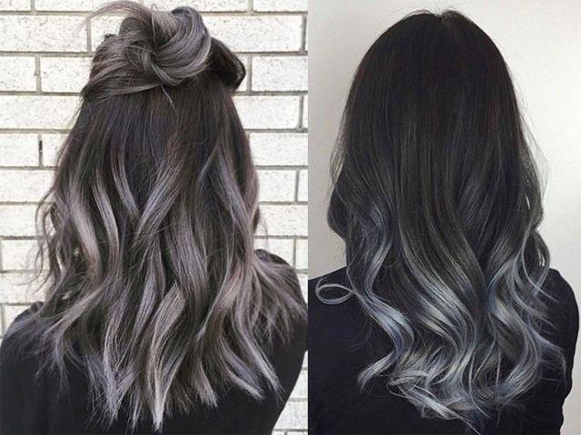 Risultati immagini per shatush grigio Acconciature Estive, Curly Hair  Styles, Tagli Di Capelli,