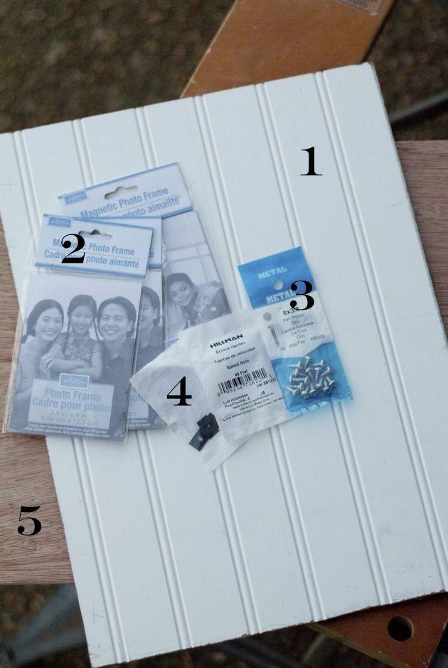 DIY Beadboard Picture Frame Tutorial | Pinterest