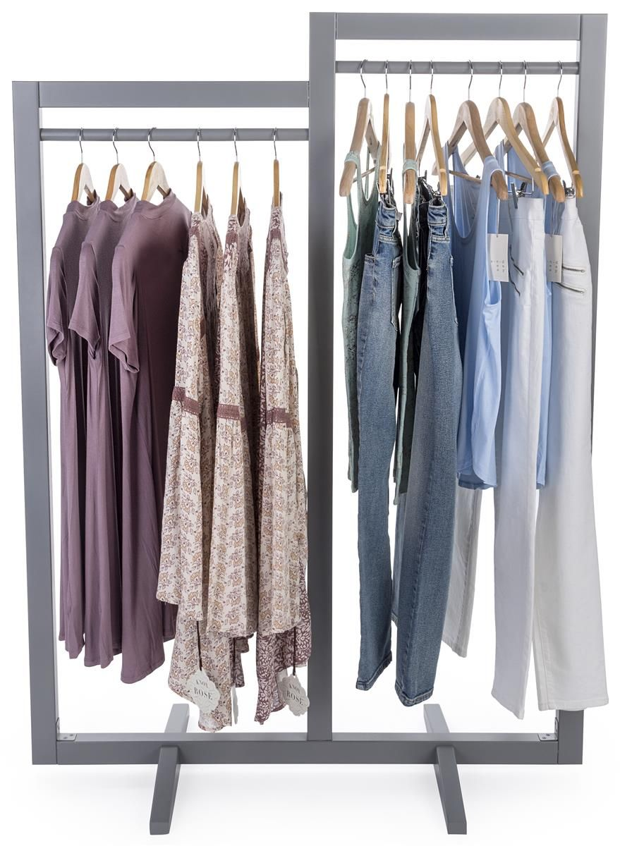 Clothing Rack With 2 Rails Gray Clothing Rack Ikea Closet