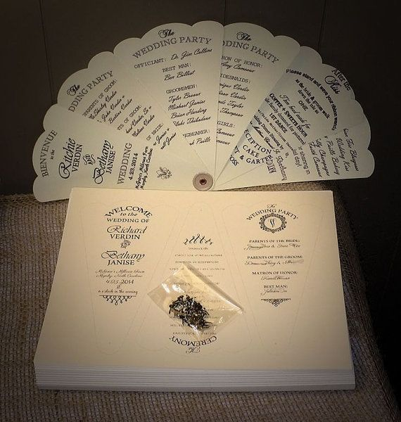 Custom Budget Diy Kit Petal Fan Wedding Programs For Chic Vintage Country Rustic