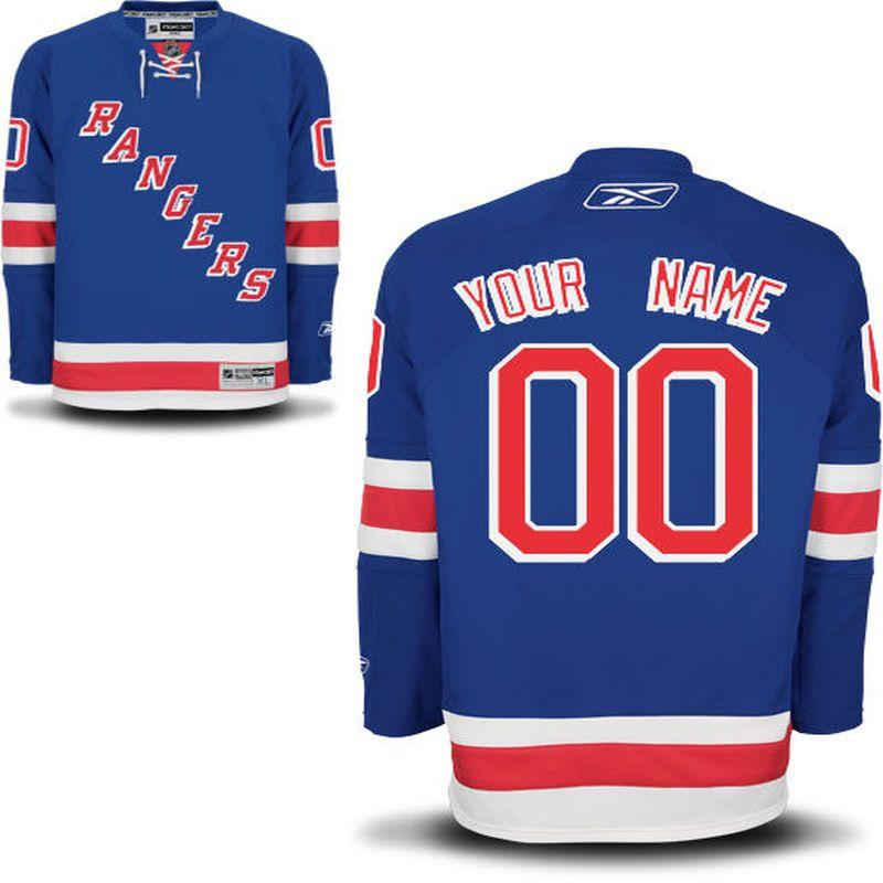 Reebok New York Rangers Men s Premier Home Custom Jersey - Blue ... 823e1db0b