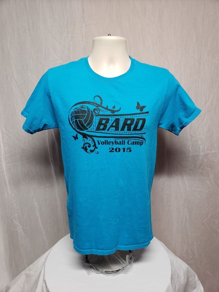 Details About 2015 Bard College Volleyball Camp Adult Small Blue T Shirt College T Shirt College T Shirts T Shirt Bard College