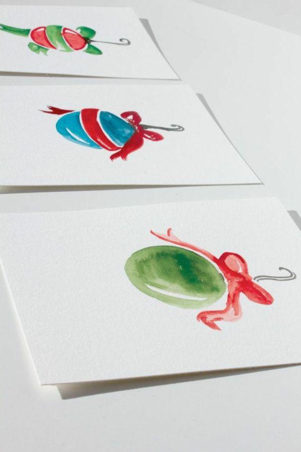 ▷ 1001+ schöne Weihnachtskarten selber basteln | Pinterest | Kugel ...