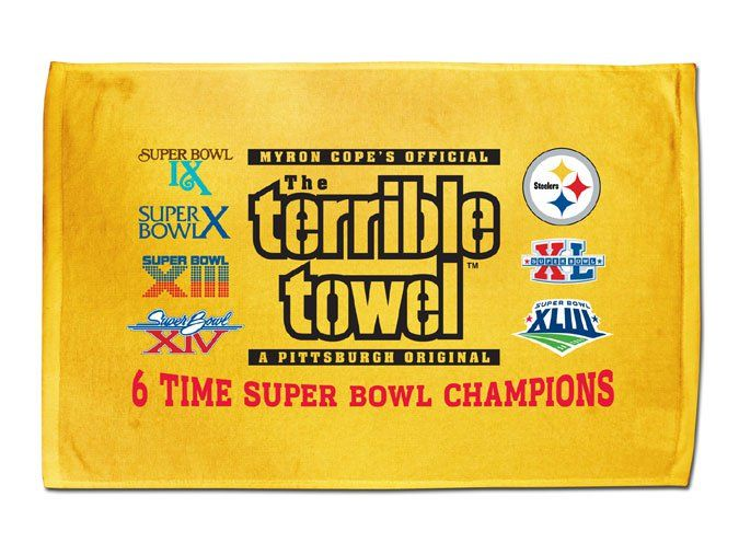 THE Terrible Towel Steelers terrible towel, Pittsburgh