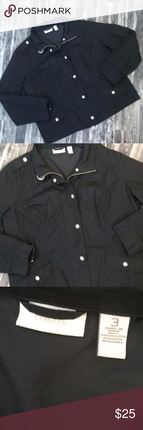Chico/'s Light Jacket Size 3