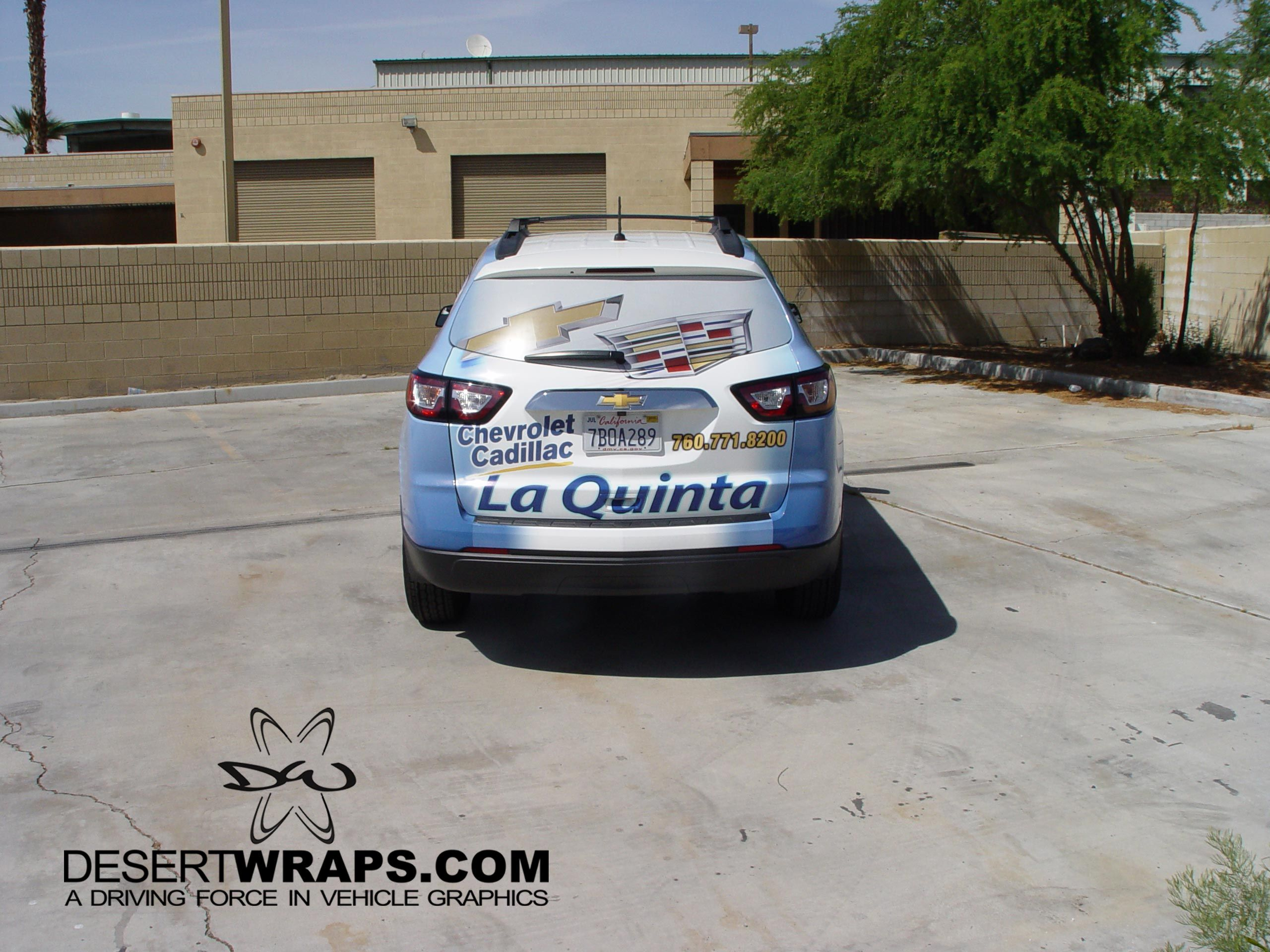 High Quality And High Resolution Vinyl Wrap On A Chevy Traverse For  Chrevolet Cadillac Of La