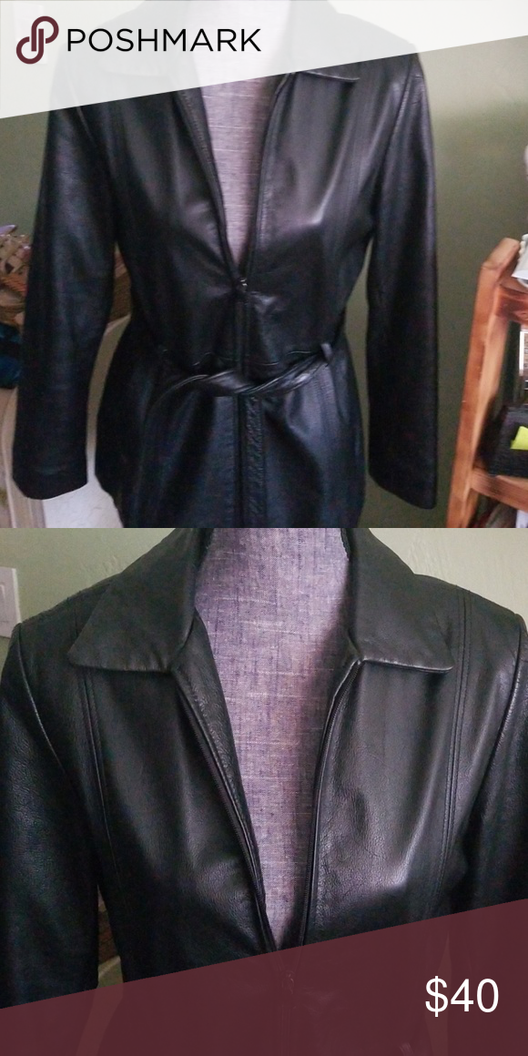 6a78d5add Outbrook leather coat Sz medium Amazing condition Classic styling ...