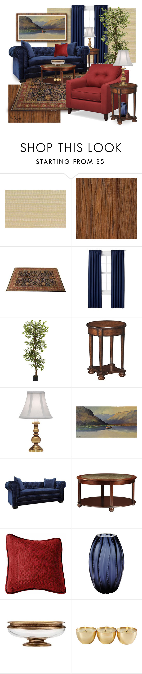 """Rich Colors"" by diane-hansen ❤ liked on Polyvore featuring interior, interiors, interior design, home, home decor, interior decorating, Seabrook, Room Essentials, Nearly Natural and Stiffel"