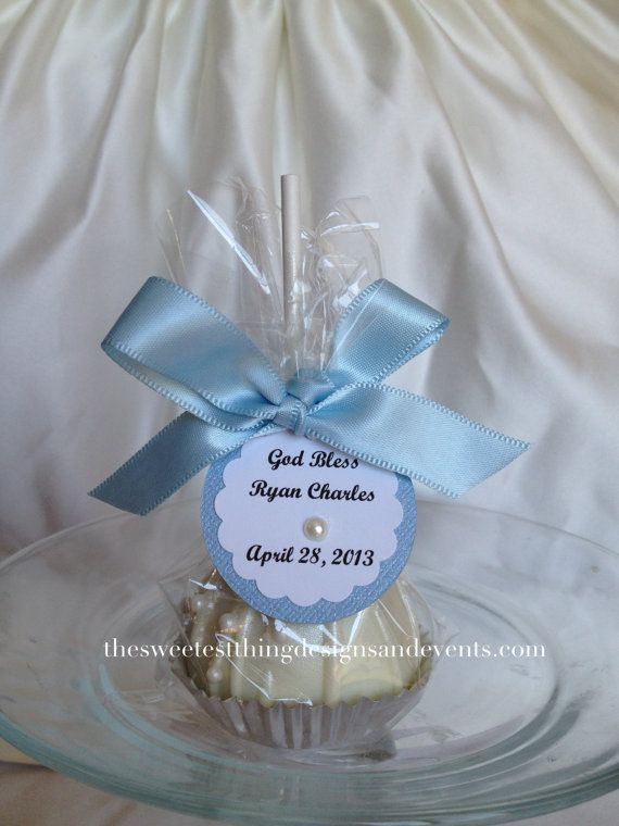 12 Elegant Oreo Pops Large Baptism Favor Wedding