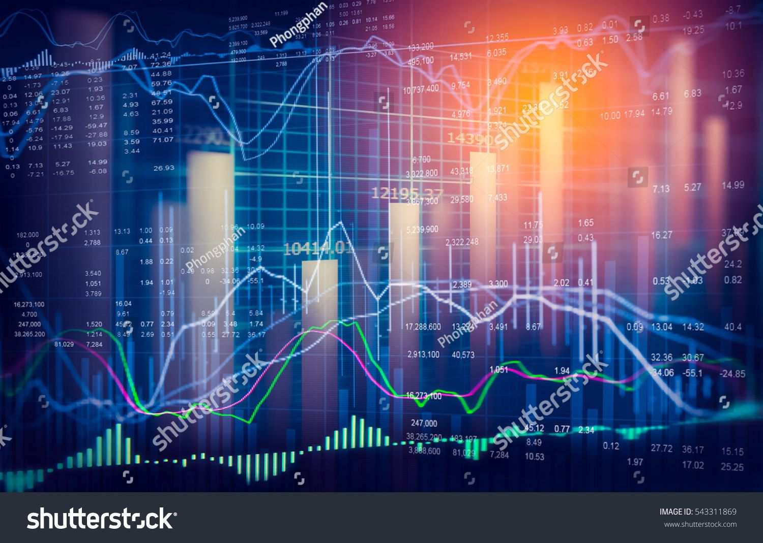 Stock Market Or Forex Trading Graph And Candlestick Chart Suitable For Financial Investment Concept Economy Trends Back Stock Market Dow Jones Index Investing