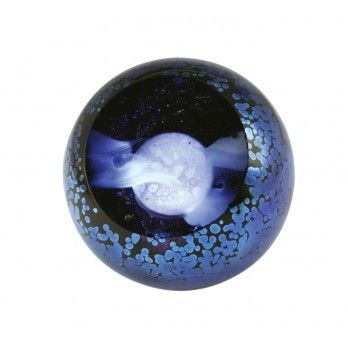 Full Moon Glass Orb Perfect Gift For Night Owls And Astronomy Buffs Experience A Blue Moon Righ With Images Glass Eye Studio Blown Glass Paperweight Glass Paperweights
