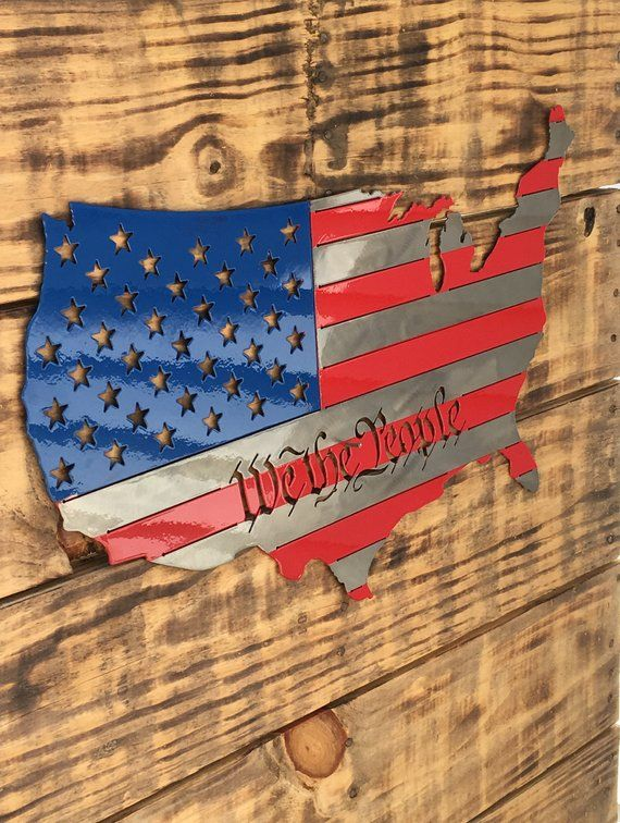 We The People Metal Sign United States Of America