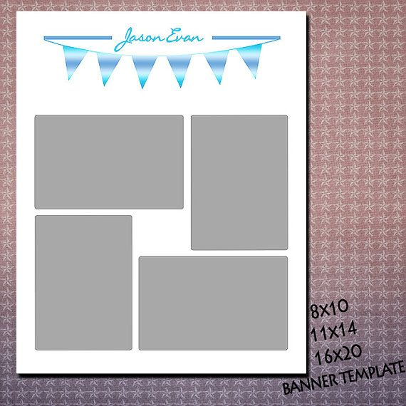 4 opening 8x10 11x14 16x20 storyboard cake by kmpdigitaldesigns, $6.00/   8x10   16x20   11x14   storyboard  wall display collage   white   4 opening photographer  psd  cake smash flag boy son