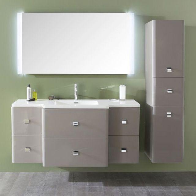 Meuble de salle de bains Taupe Meltem en 2019 | Meubles pas cher ...