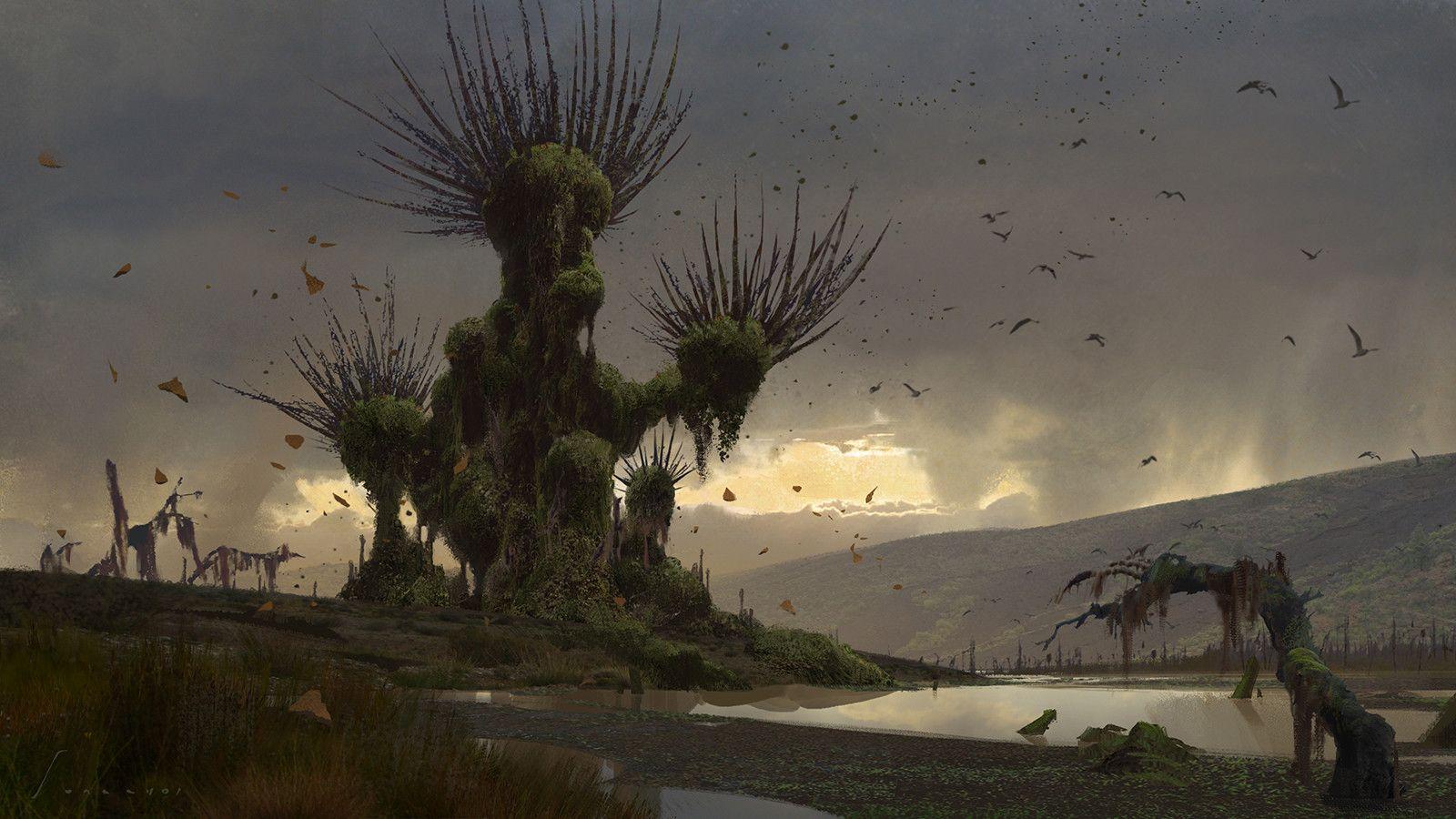 ArtStation - Fungal Tree, Sung Choi