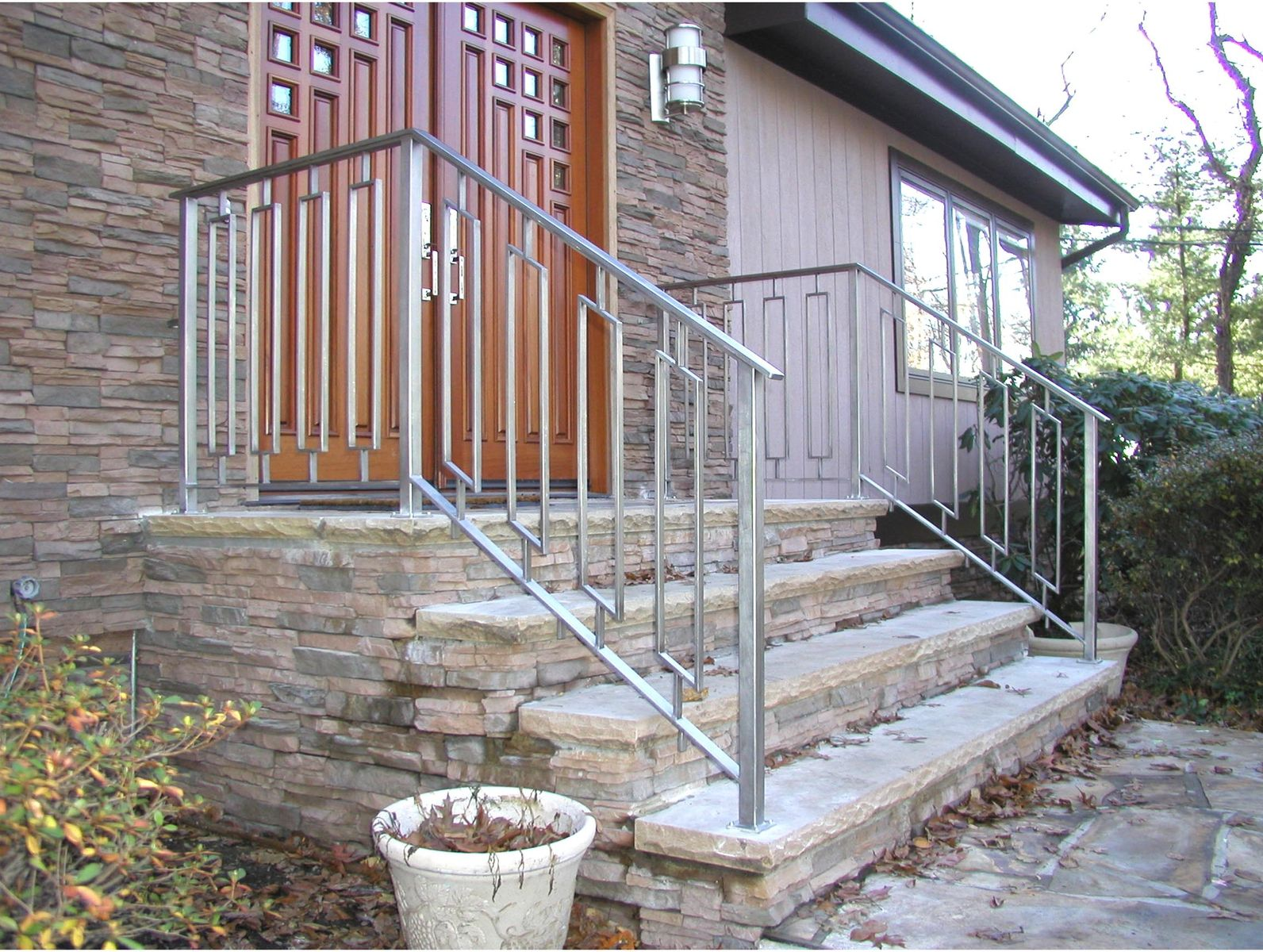 Best Custom Made Greenan Exterior Entry Railing With Images 400 x 300