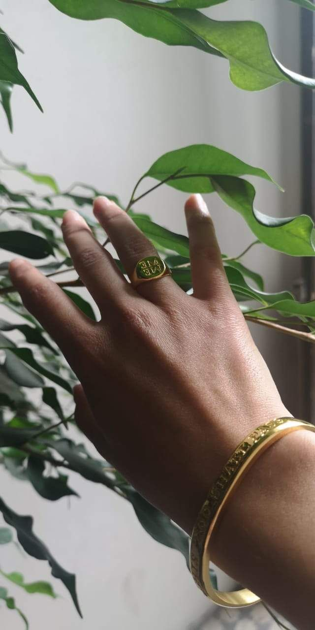 Ring available in Bronze 22K Gold Plated or Silver .925. Size from 5 to 7. Do not worry, we will contact you after your order to choose the right size! Born during this global pandemic that has touched every single human being on our precious blue planet, the ME WE collection reflects our undeniable codependence, a realization that we are all faced with and that touches every fiber in ourselves. What affects ME, affects YOU. The reflection of ME is WE. What a beauty… It represents us all, it say