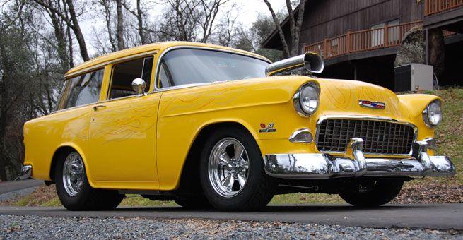 1955 Chevy Pro Street Wagon | 55 chevys | 1955 chevy, Chevy, Hot