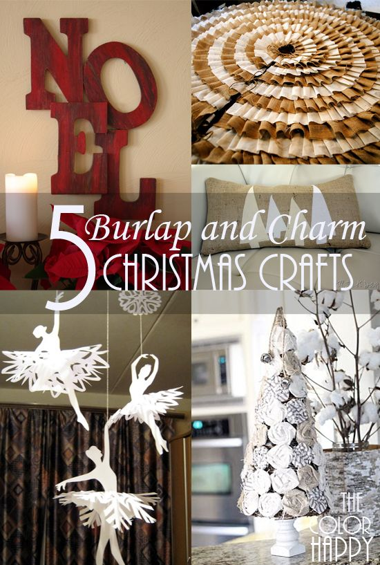5 Christmas crafts full of Burlap and Charm