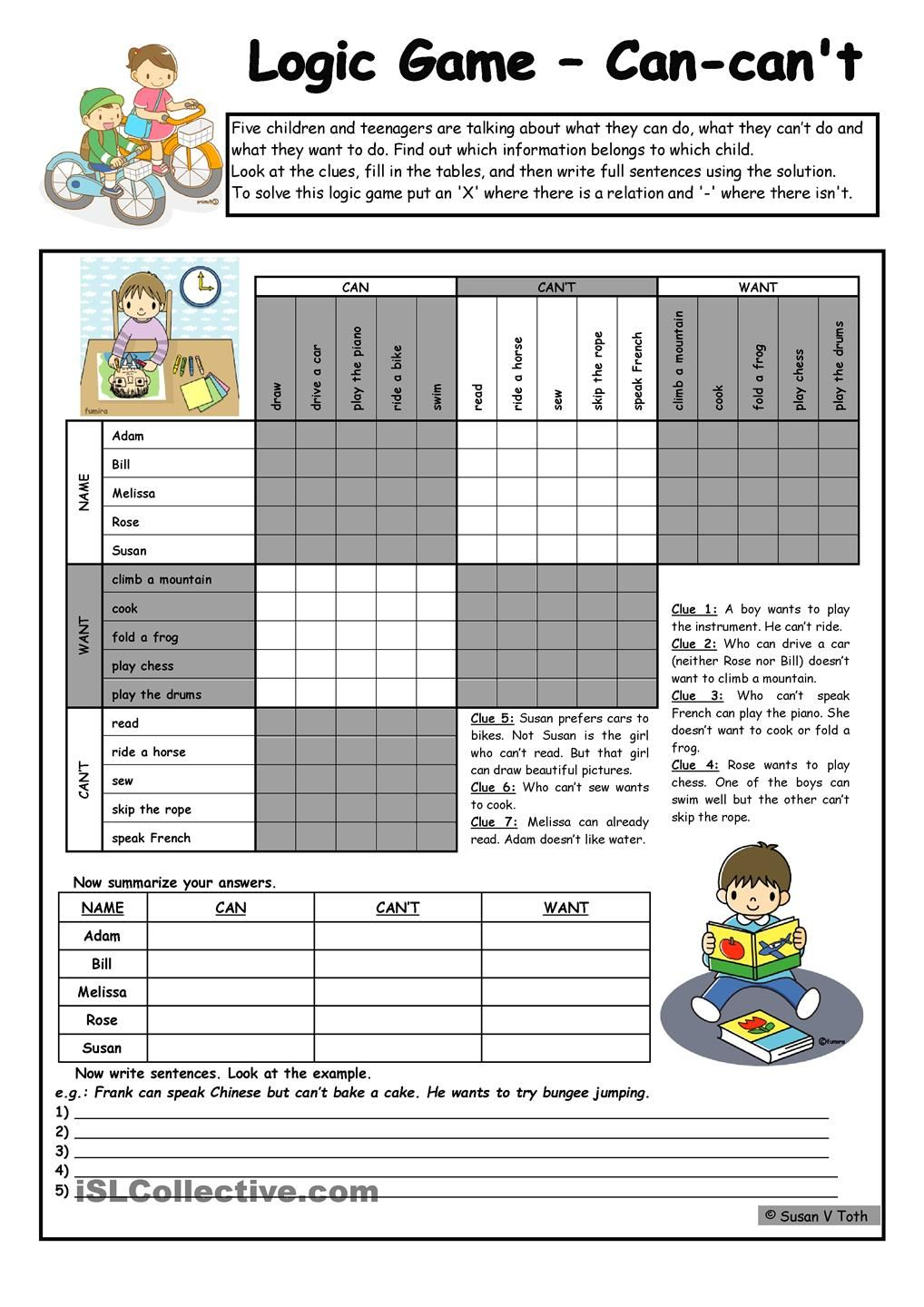Logic Game 47th Can Can T Want Upper Elementary With Key Fully Editable B W Logic Games Logic Games For Kids Logic Puzzles Brain Teasers [ 1440 x 1018 Pixel ]