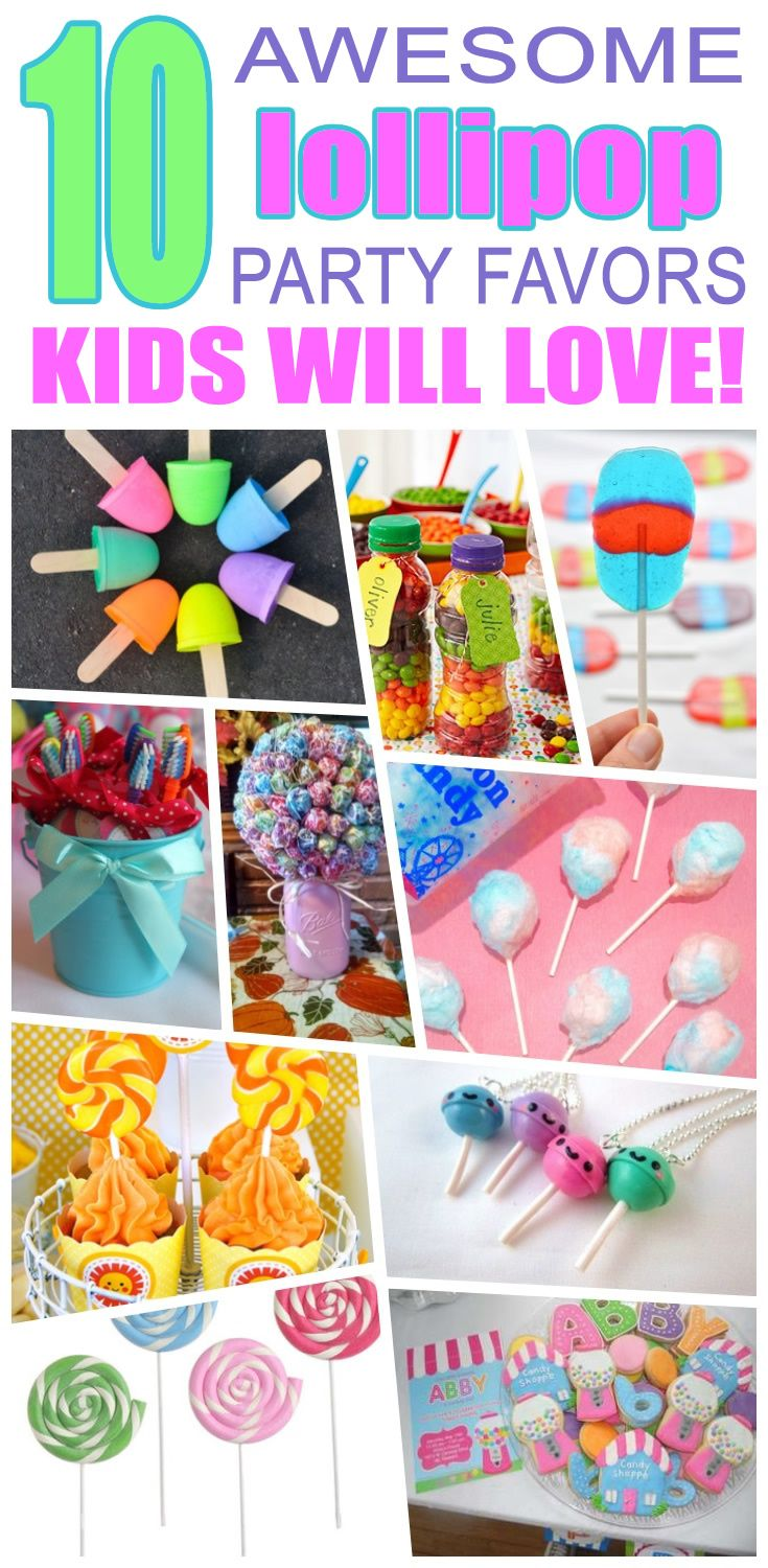 great lollipop party favors kids will love fun and cool lollipop birthday party favor ideas