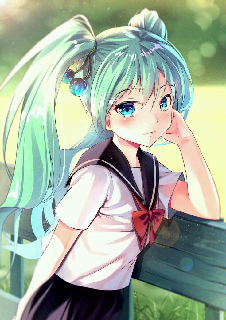 Anime Beautiful Girl Animegirl Animekawaii Kawaii Cute Girl Kurdishotaku Art أنمي انمي بنات كيوت كاواي Anime Hatsune Miku Kawaii Anime