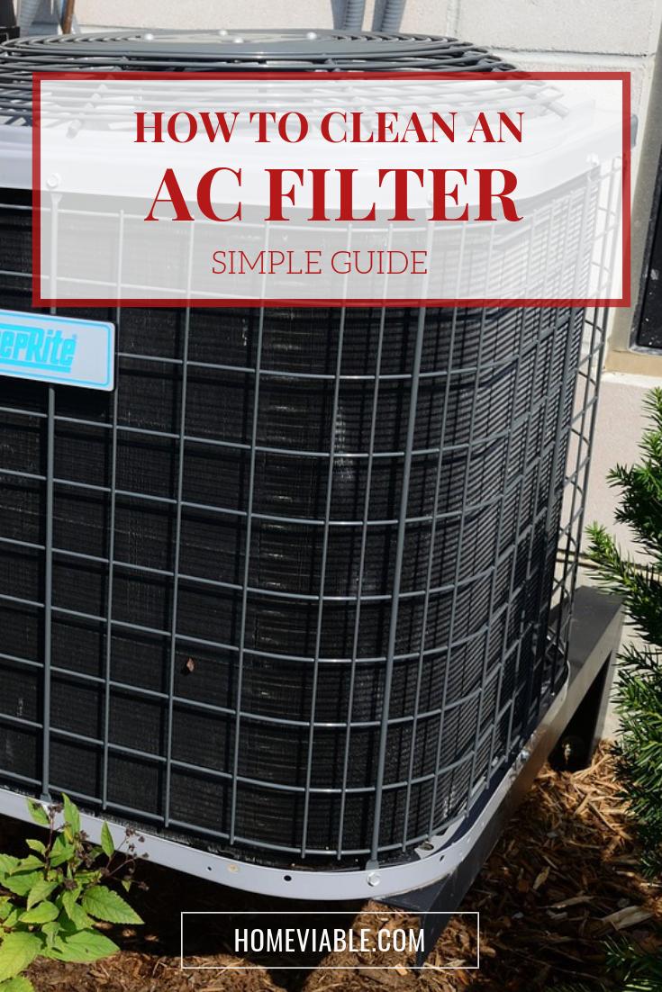 Getting Fresh Air How to Clean an AC Filter Clean air